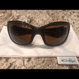 Women's Oakley Ravishing brown sparkle sunglasses